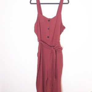 Rachel Zoe Cotton Button Up Wide Leg Jumpsuit